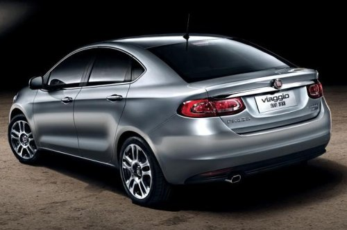 The rear end of the new Fiat Viaggio